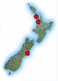 Sample map of New Zealand